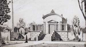Bauzeichnung Entwurf Krematorium [Quelle: Bauaktenarchiv Stadt Zwickau]